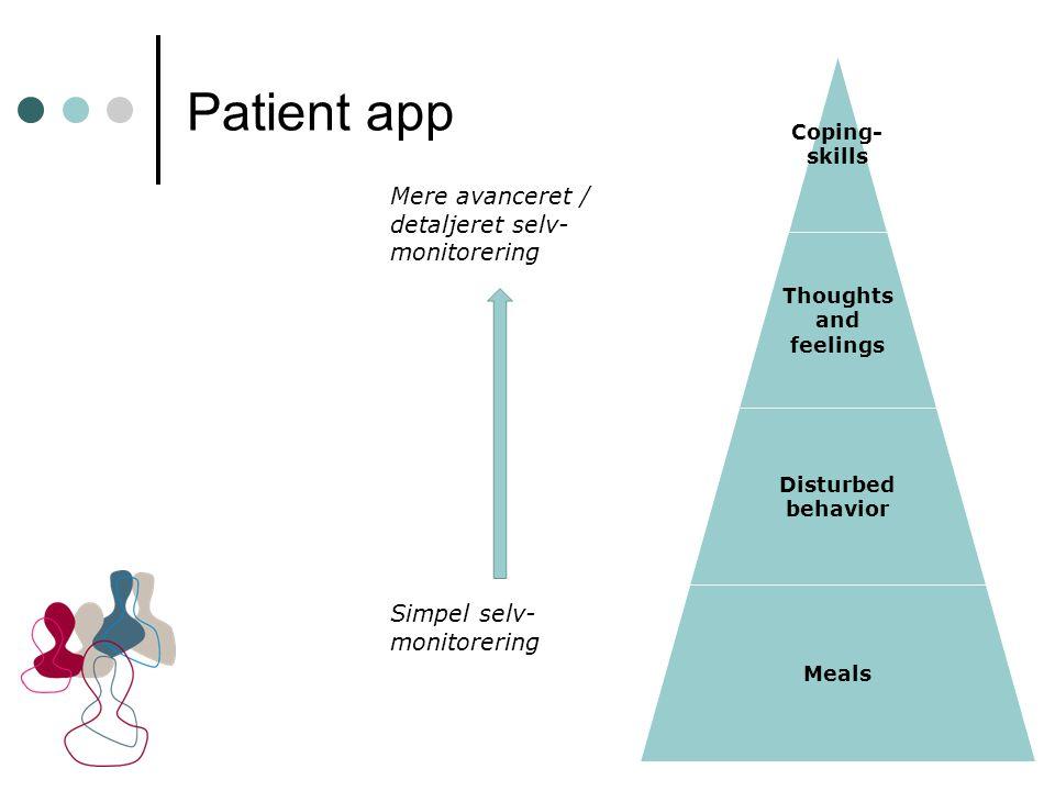 Patient app Mere avanceret / detaljeret selv-monitorering