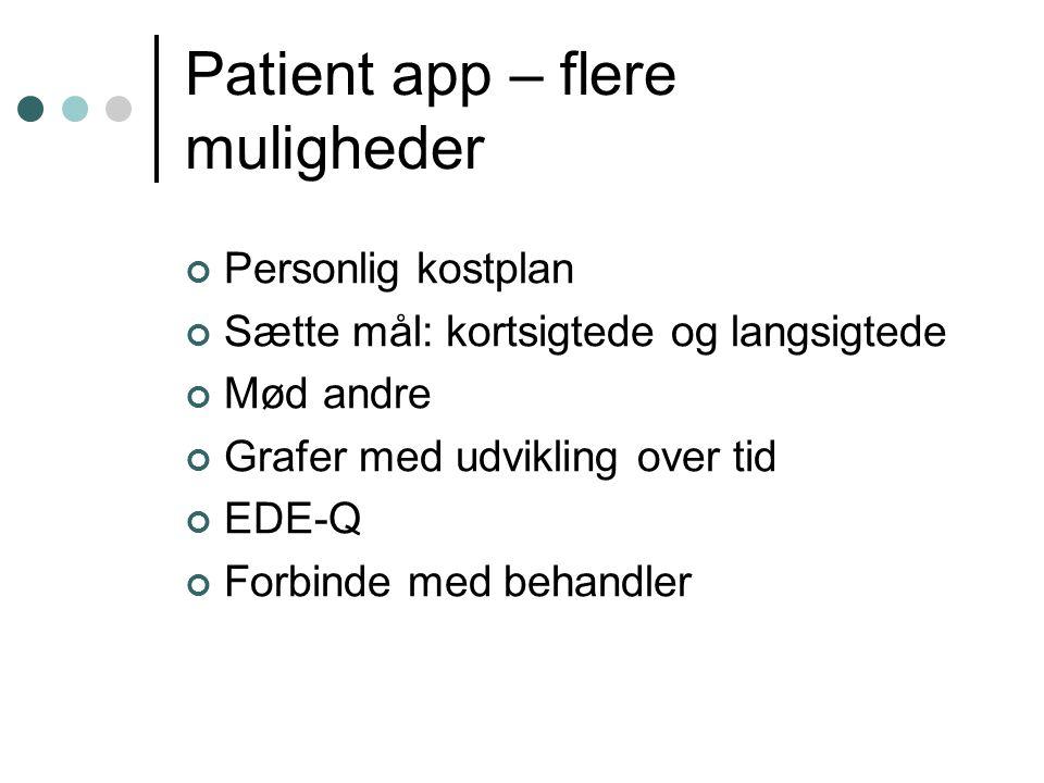 Patient app – flere muligheder