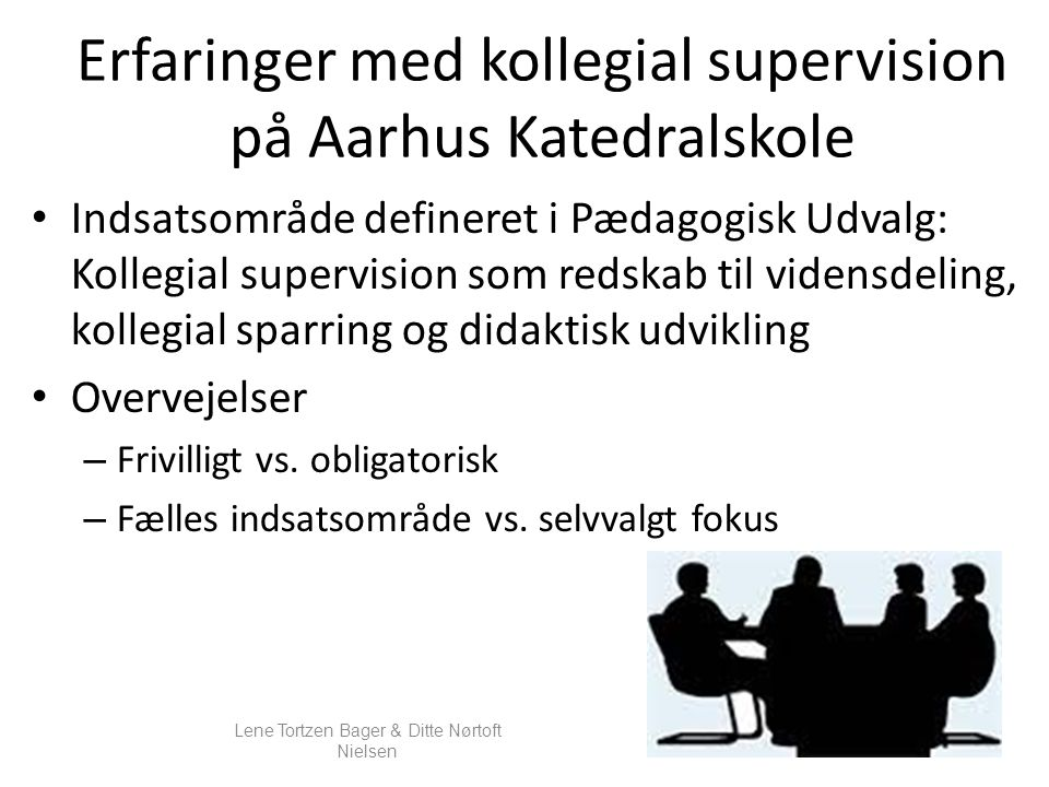 Erfaringer med kollegial supervision på Aarhus Katedralskole