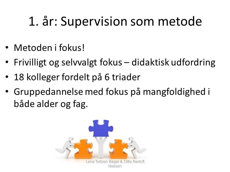 1. år: Supervision som metode