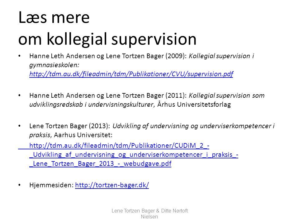Læs mere om kollegial supervision