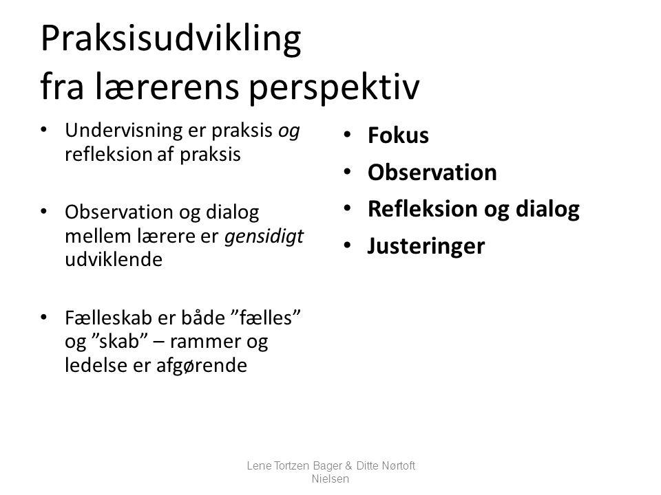 Praksisudvikling fra lærerens perspektiv