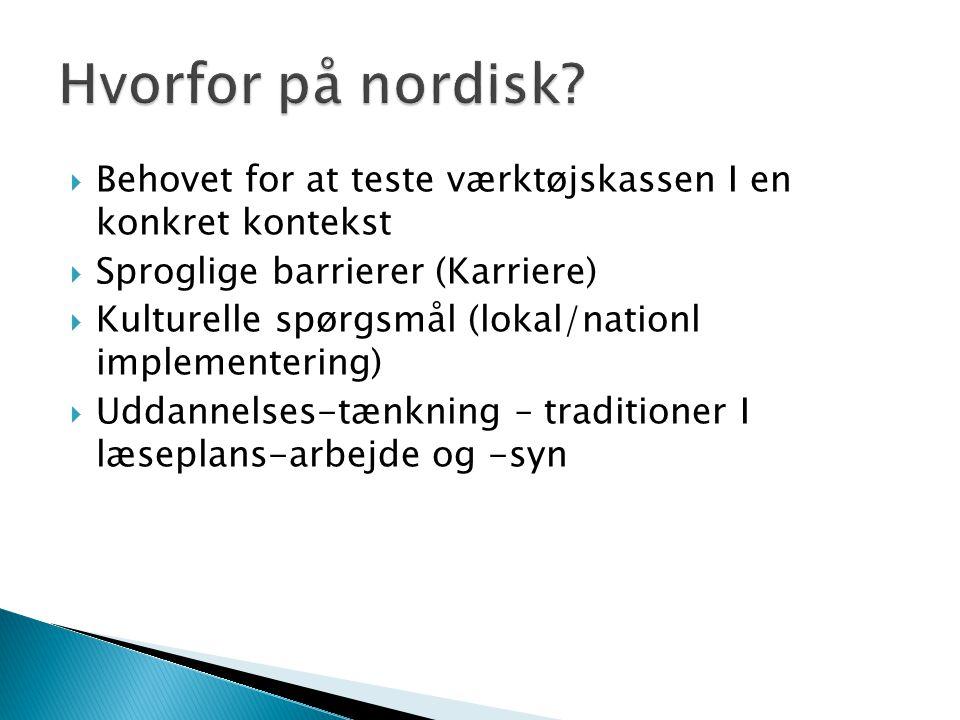 Hvorfor på nordisk Behovet for at teste værktøjskassen I en konkret kontekst. Sproglige barrierer (Karriere)