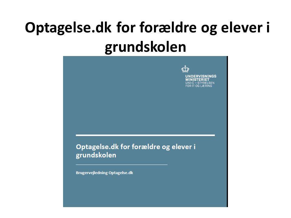 Optagelse.dk for forældre og elever i grundskolen