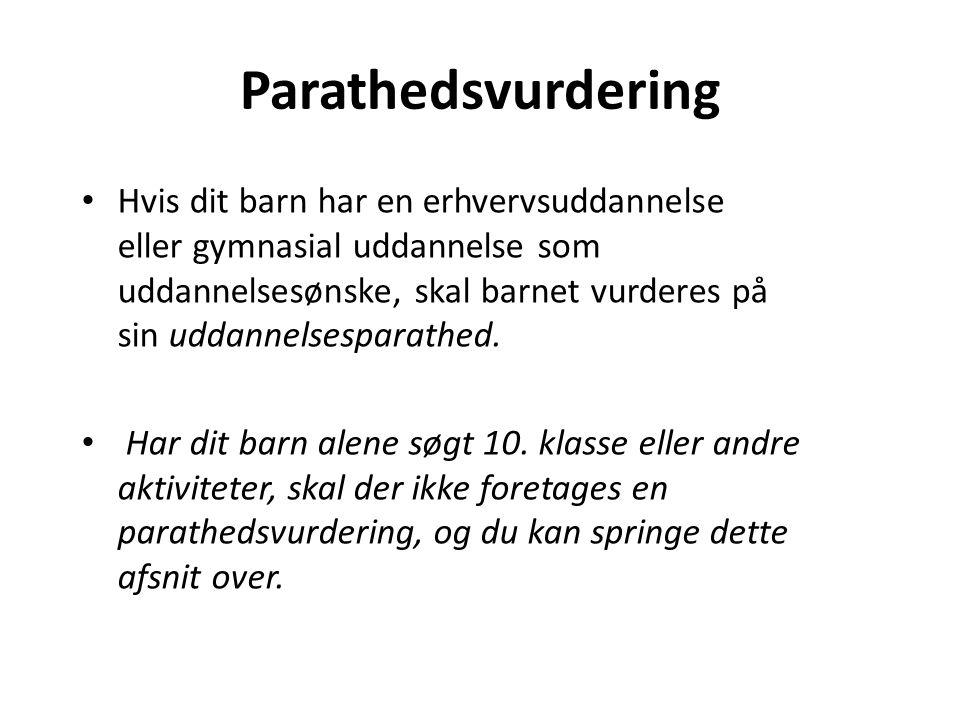 Parathedsvurdering