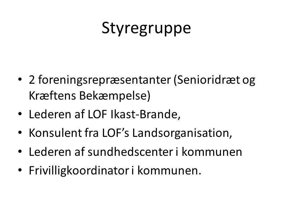 Styregruppe 2 foreningsrepræsentanter (Senioridræt og Kræftens Bekæmpelse) Lederen af LOF Ikast-Brande,