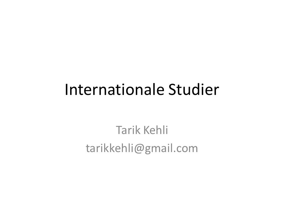 Internationale Studier