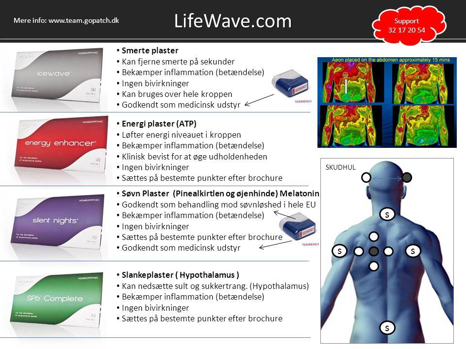 LifeWave.com s s s s Smerte plaster Kan fjerne smerte på sekunder