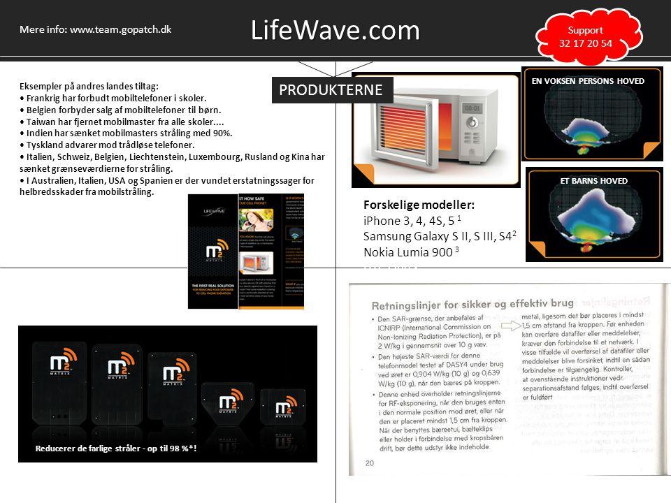 LifeWave.com PRODUKTERNE Forskelige modeller: iPhone 3, 4, 4S, 5 1