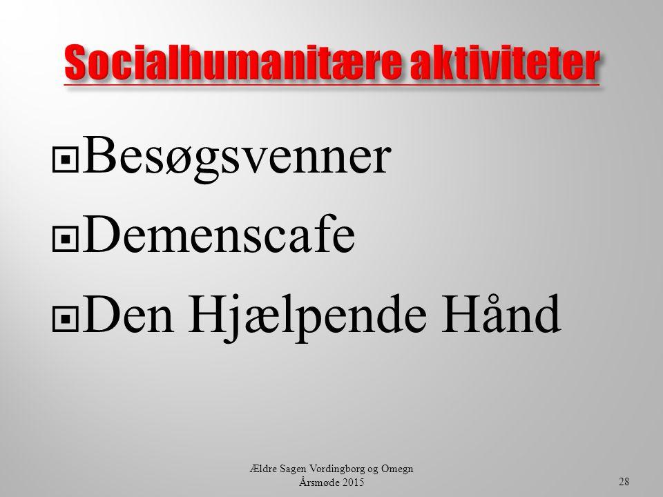 Socialhumanitære aktiviteter