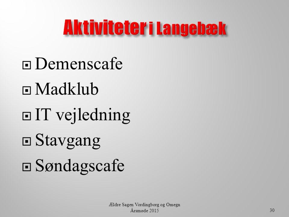 Aktiviteter i Langebæk