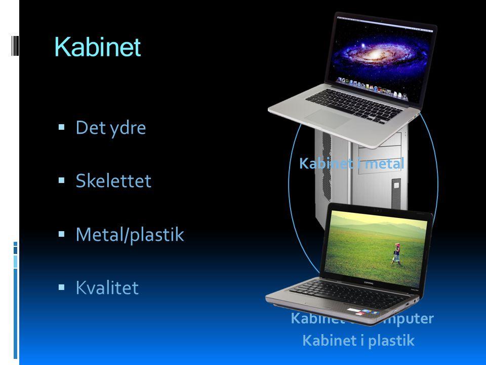 Kabinet Det ydre Skelettet Metal/plastik Kvalitet Kabinet i metal