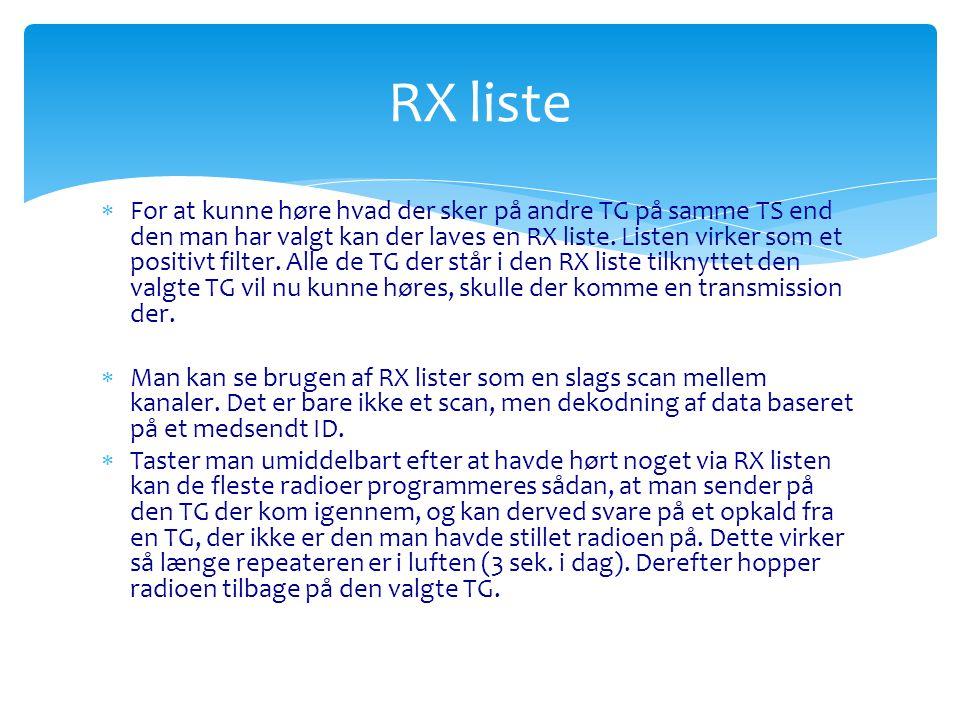 RX liste