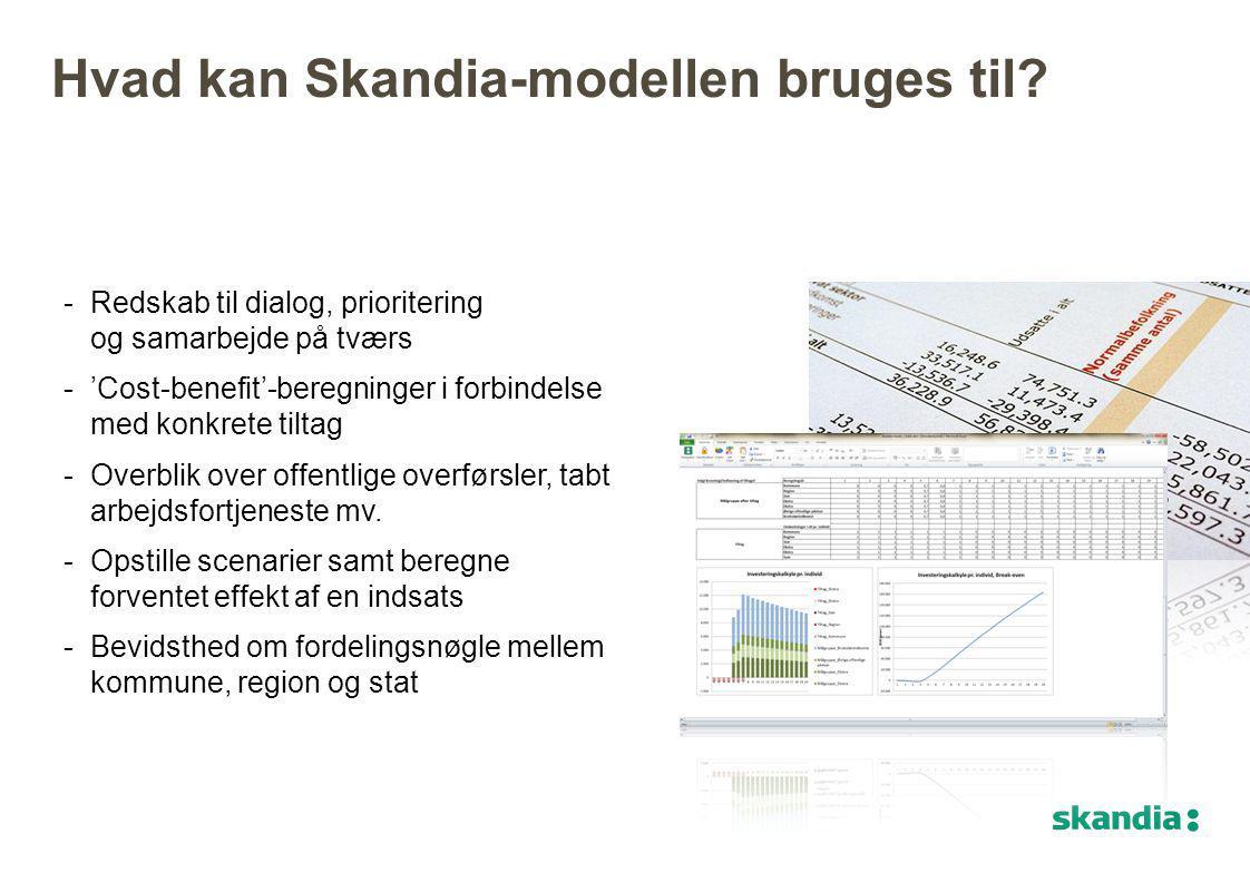 Hvad kan Skandia-modellen bruges til