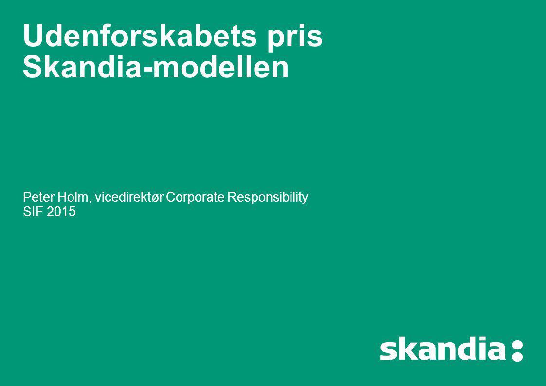 Udenforskabets pris Skandia-modellen