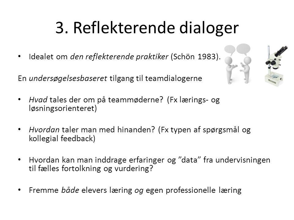 3. Reflekterende dialoger