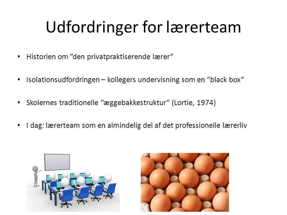 Udfordringer for lærerteam