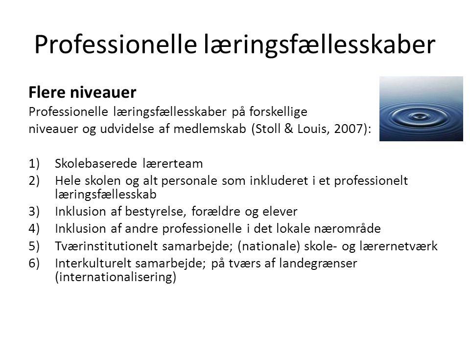 Professionelle læringsfællesskaber