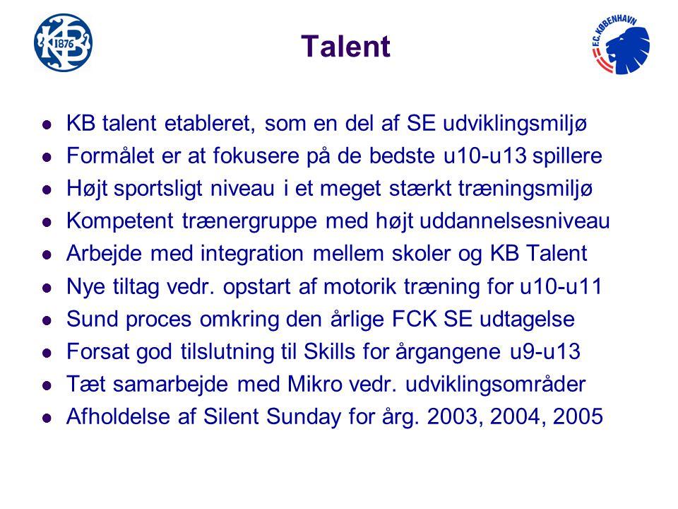 Talent KB talent etableret, som en del af SE udviklingsmiljø