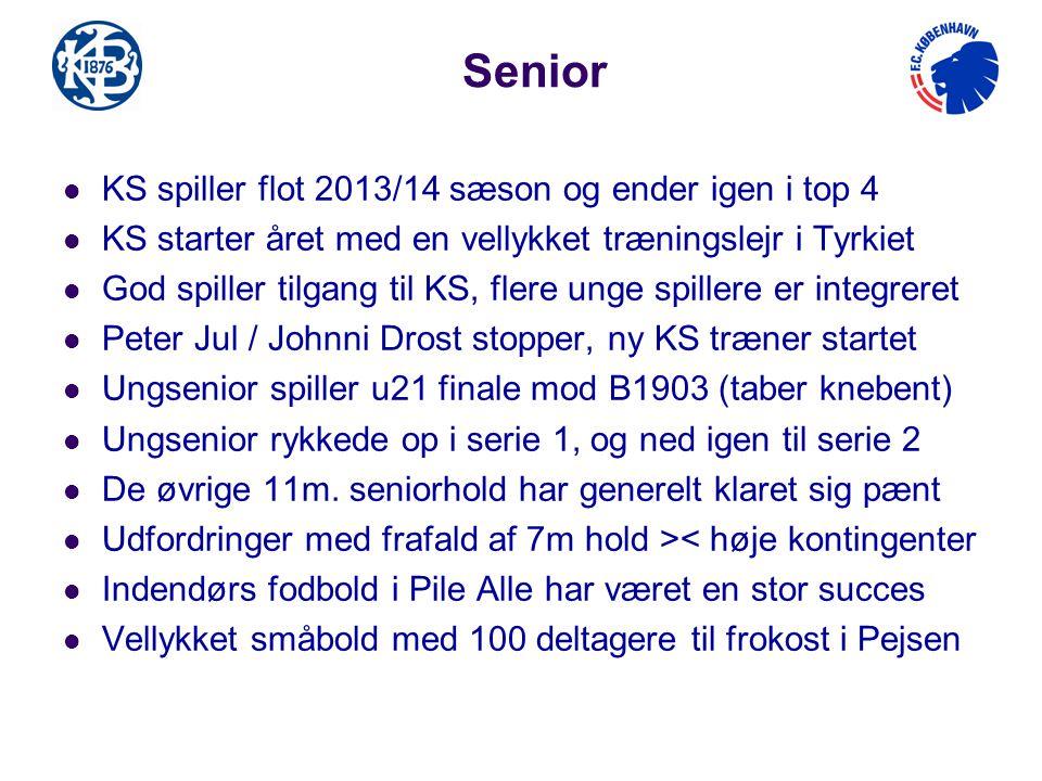 Senior KS spiller flot 2013/14 sæson og ender igen i top 4