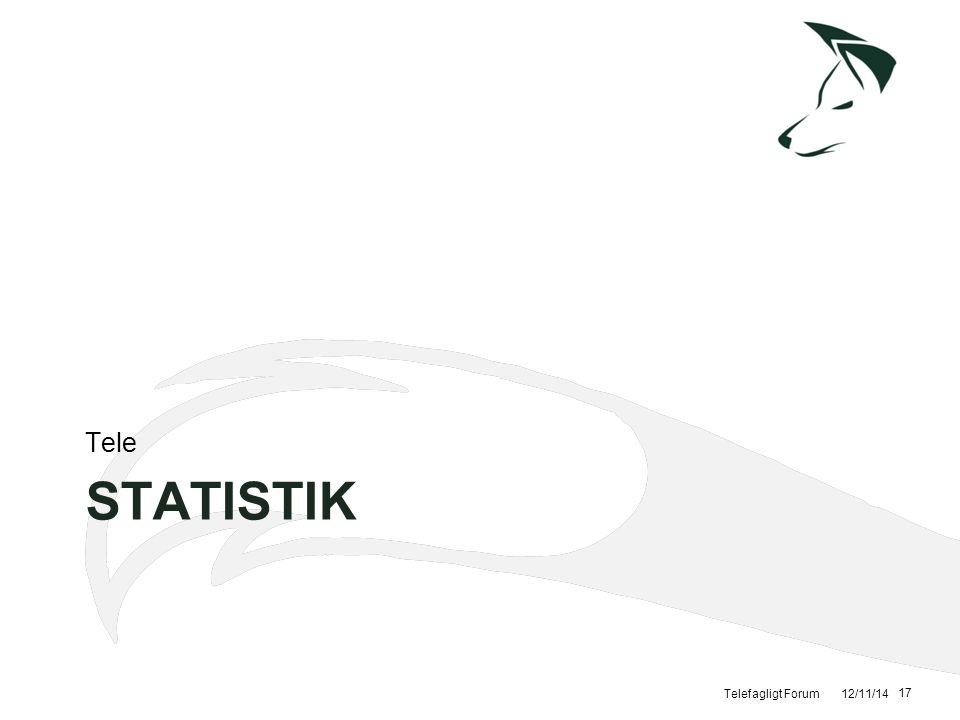 Tele Statistik Telefagligt Forum 12/11/14
