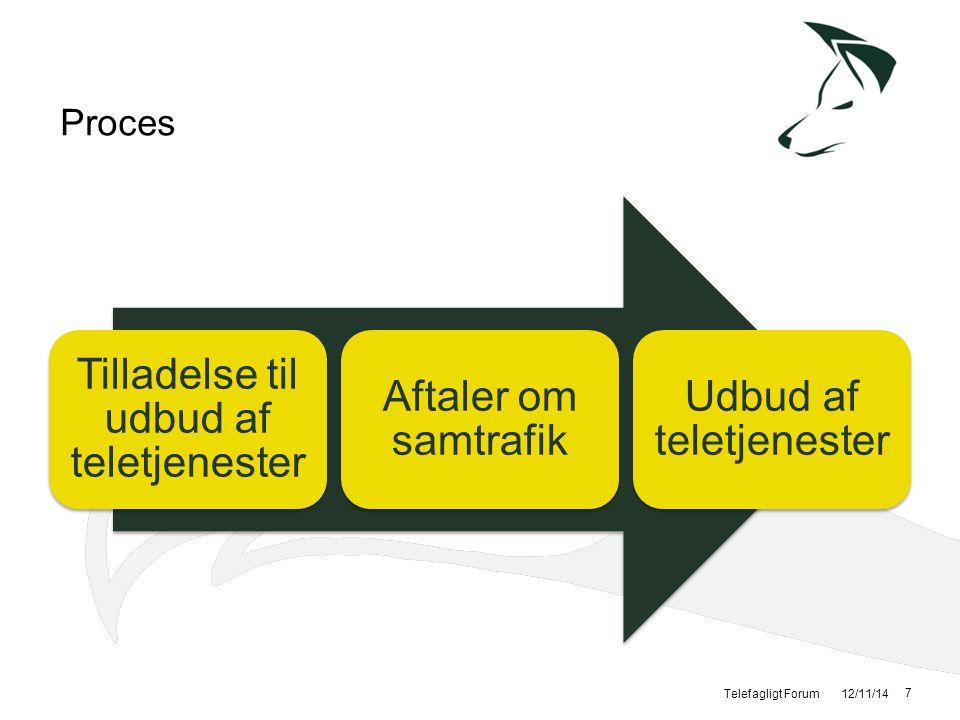 Tilladelse til udbud af teletjenester Aftaler om samtrafik