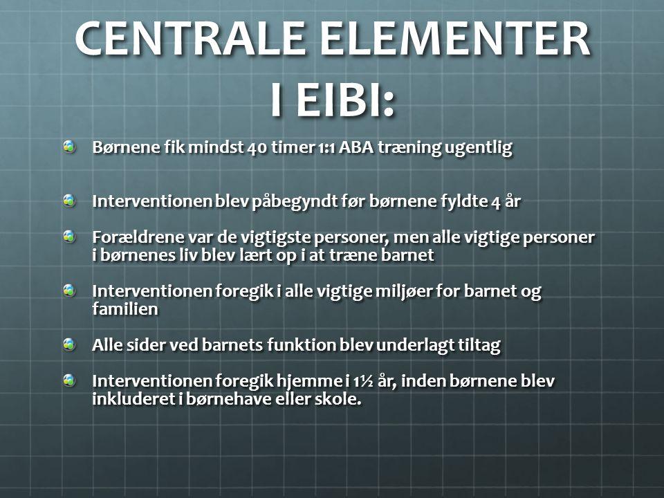 CENTRALE ELEMENTER I EIBI: