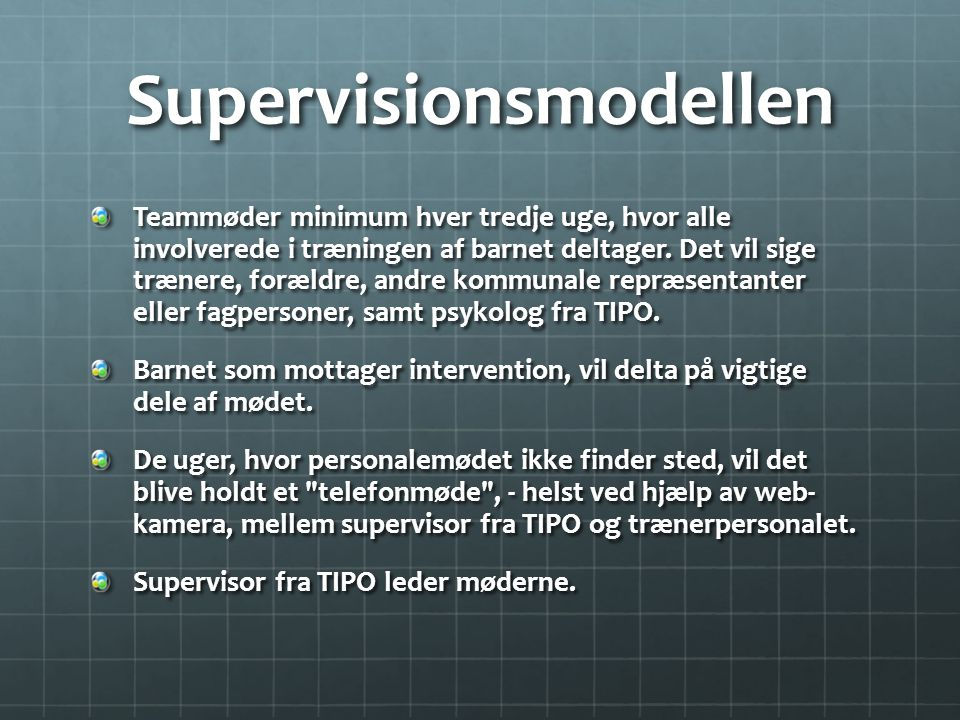 Supervisionsmodellen