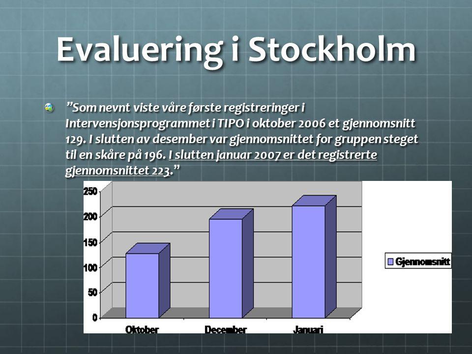 Evaluering i Stockholm