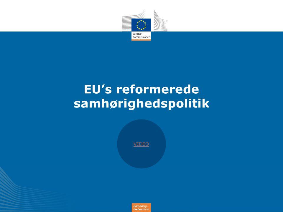 EU's reformerede samhørighedspolitik