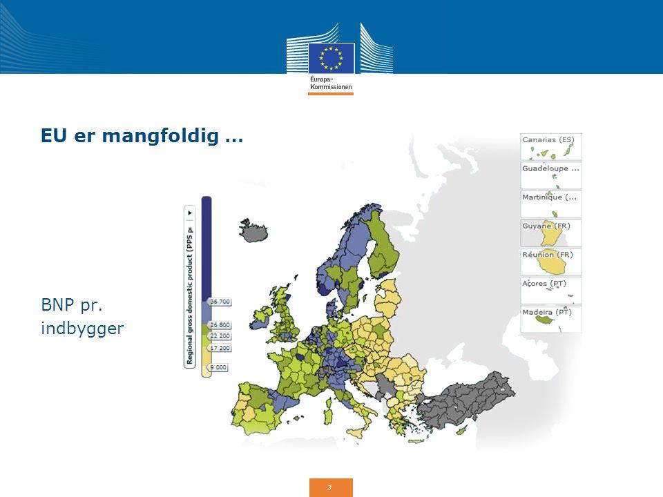 EU er mangfoldig … BNP pr. indbygger