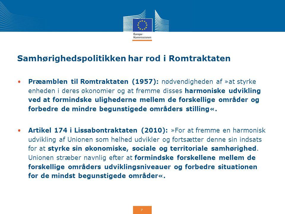 Samhørighedspolitikken har rod i Romtraktaten