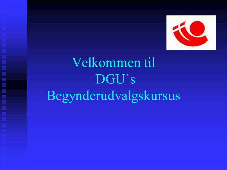 Velkommen til DGU`s Begynderudvalgskursus