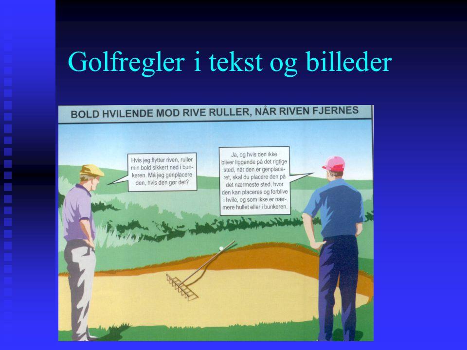 Golfregler i tekst og billeder