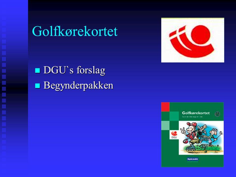 Golfkørekortet DGU`s forslag Begynderpakken