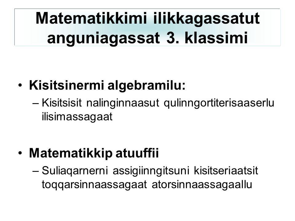Matematikkimi ilikkagassatut anguniagassat 3. klassimi