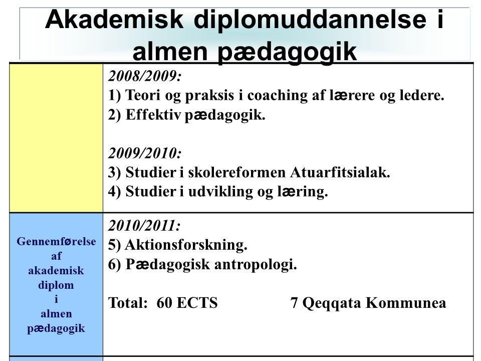 Akademisk diplomuddannelse i almen pædagogik