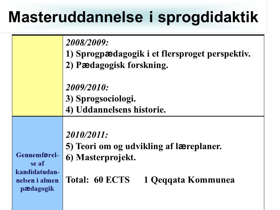 Masteruddannelse i sprogdidaktik