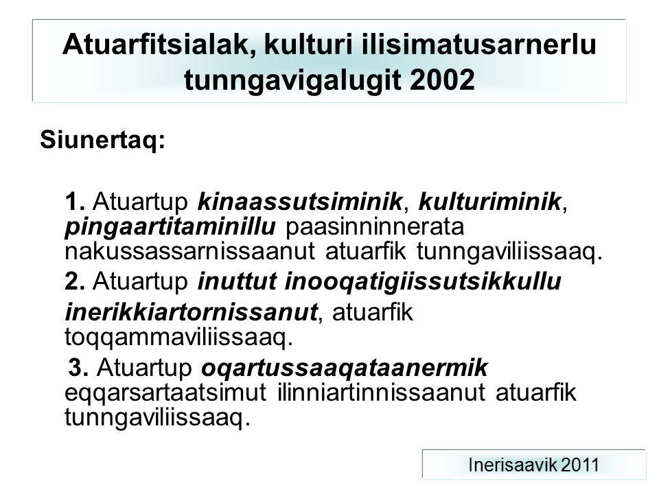 Atuarfitsialak, kulturi ilisimatusarnerlu tunngavigalugit 2002