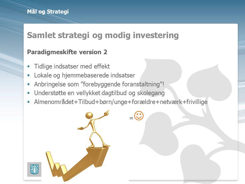 Samlet strategi og modig investering
