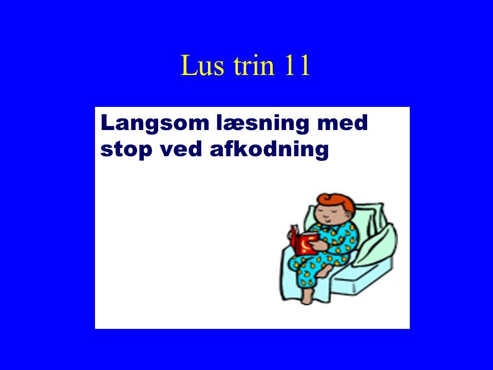 Lus trin 11 Langsom læsning med stop ved afkodning