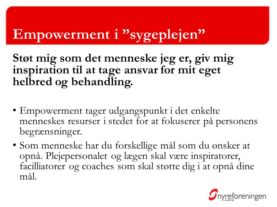 Empowerment i sygeplejen