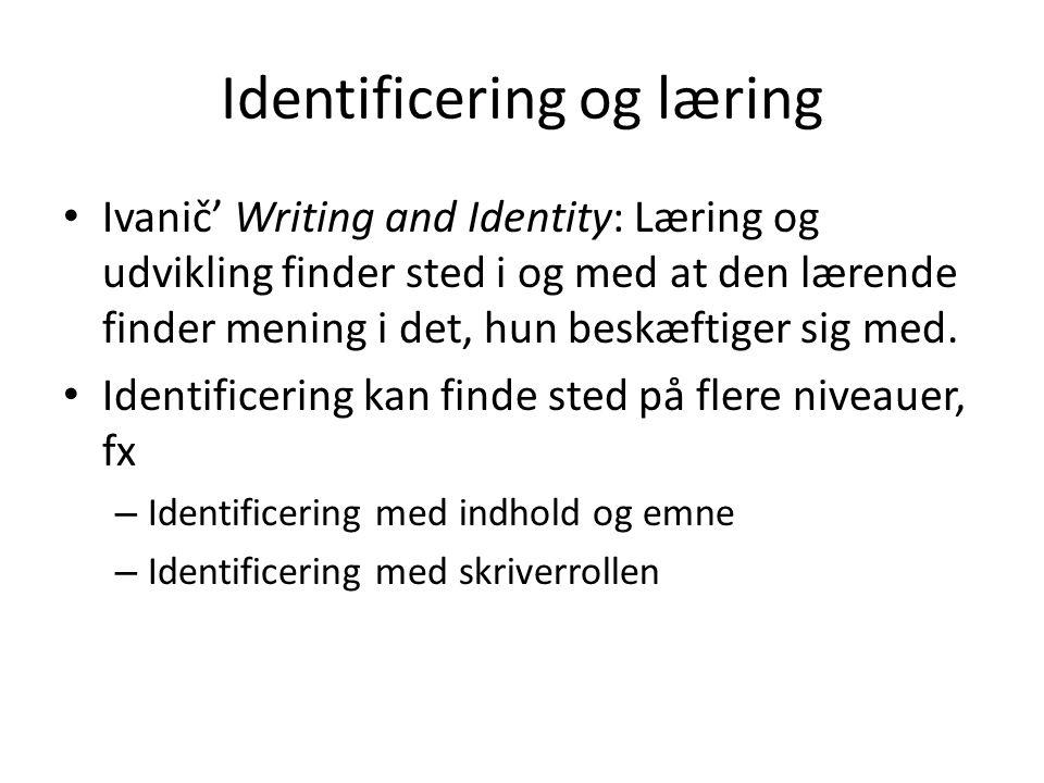 Identificering og læring