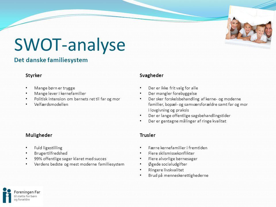 SWOT-analyse Det danske familiesystem