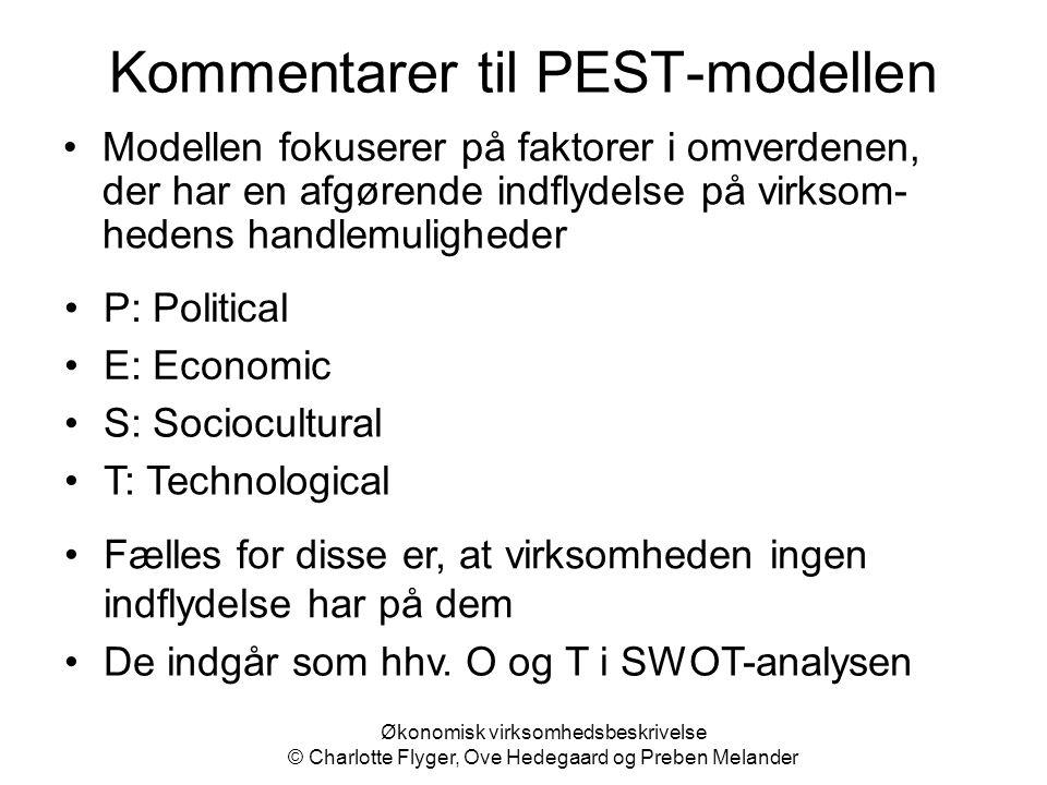 Kommentarer til PEST-modellen