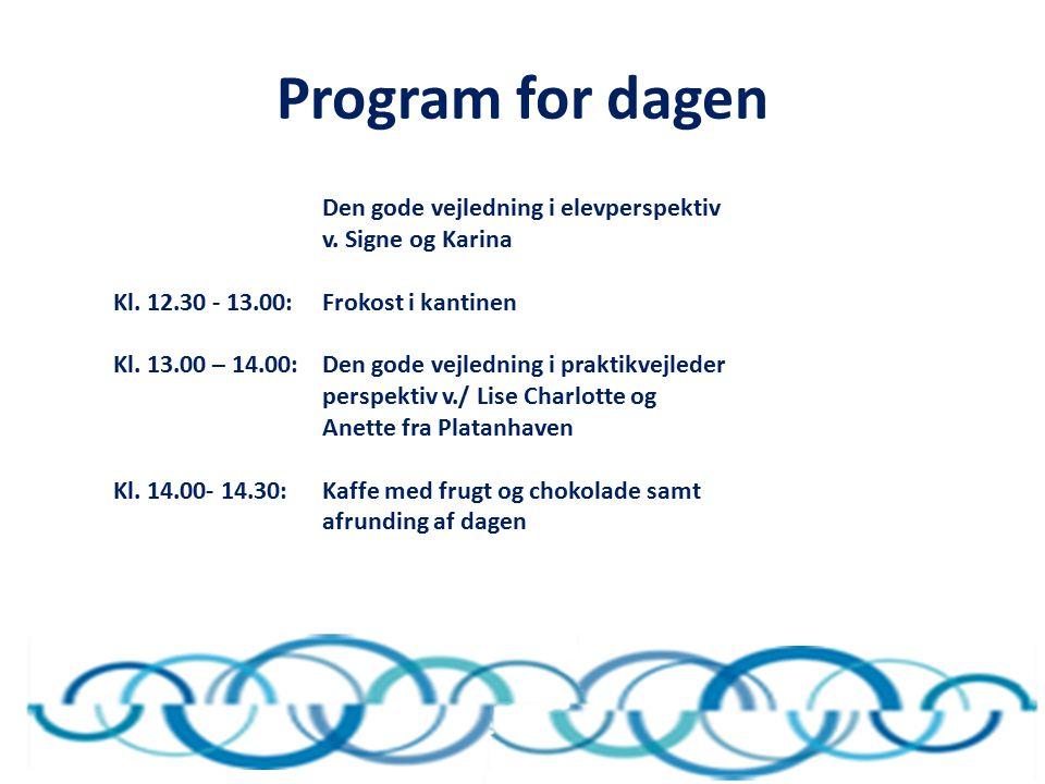 Program for dagen Den gode vejledning i elevperspektiv