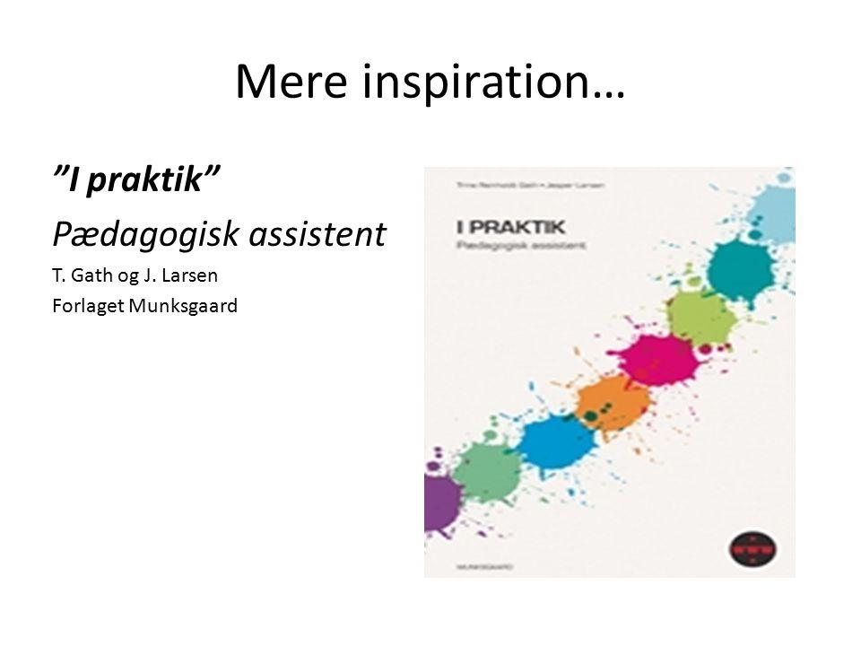 Mere inspiration… I praktik Pædagogisk assistent