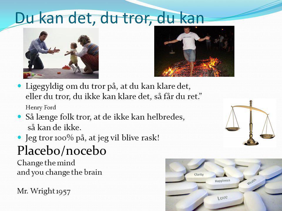 Du kan det, du tror, du kan Placebo/nocebo