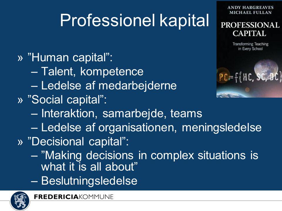 Professionel kapital Human capital : Talent, kompetence