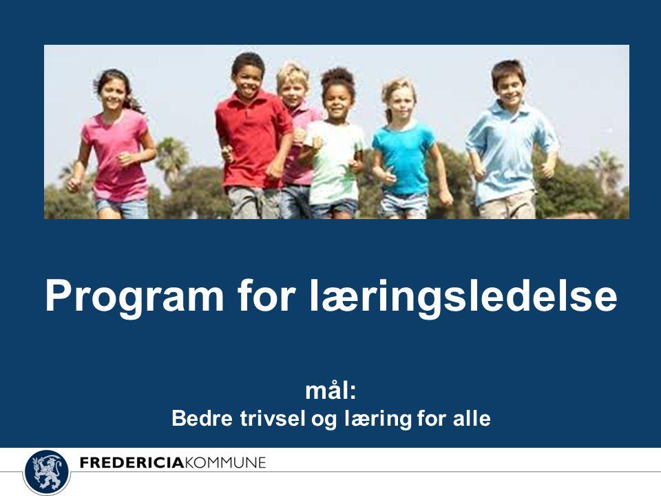 Program for læringsledelse mål: Bedre trivsel og læring for alle